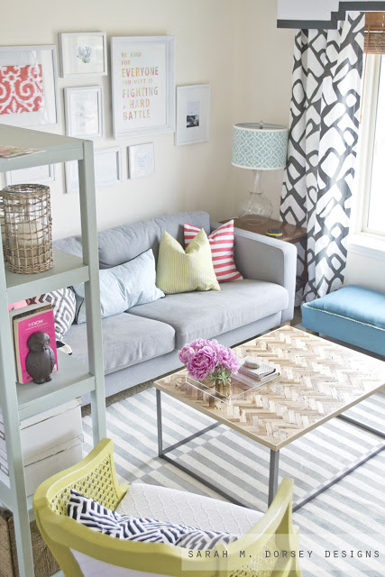 diy painted striped rug8