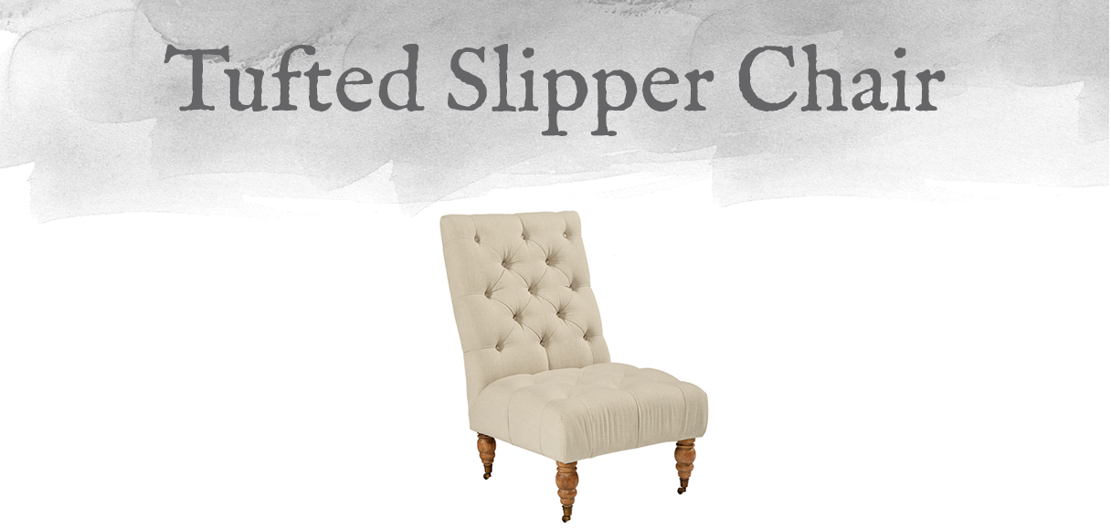 Magnolia Home Living Room - Tufted Slipper Chair