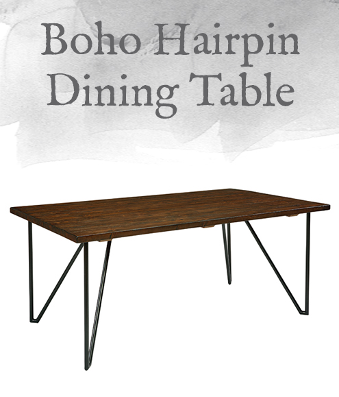 Boho Hairpin Dining Table