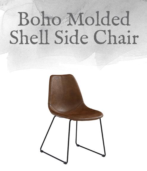 Boho Molded Shell Side Chair