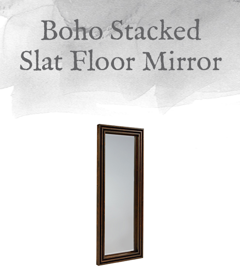 Boho Stacked Slat Floor Mirror