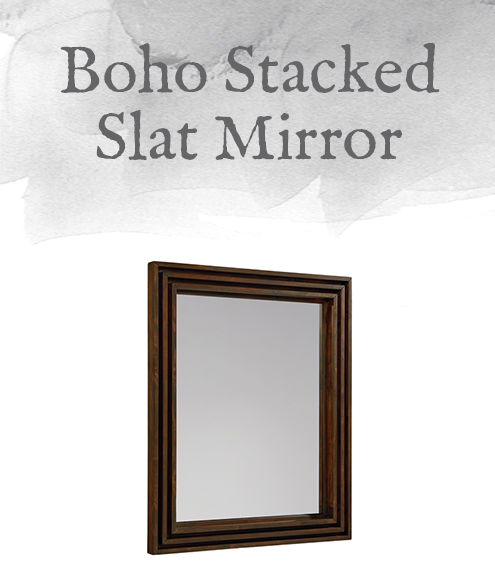 Boho Stacked Slat Mirror