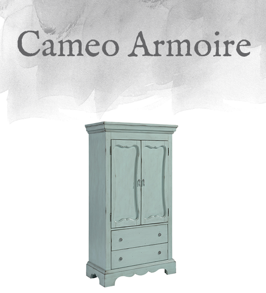 French-Inspired Cameo Armoire