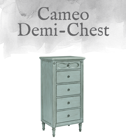 French-Inspired Cameo Demi-Chest