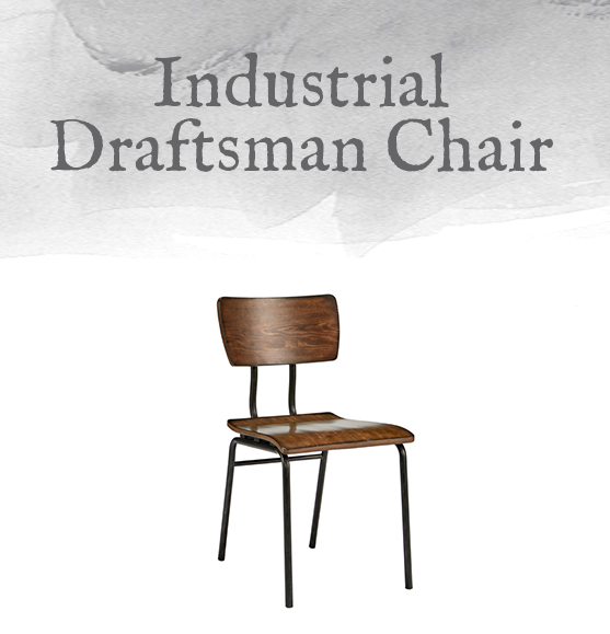Industrial Work Chairs Were Simple, Sturdy, And Straight To The Point, And  Our Draftsman Chair With Wood Seat Fits The Bill. It Features A Trim Metal  Frame ...