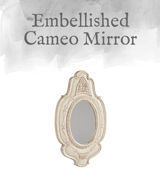 French-Inspired Embellished Cameo Mirror