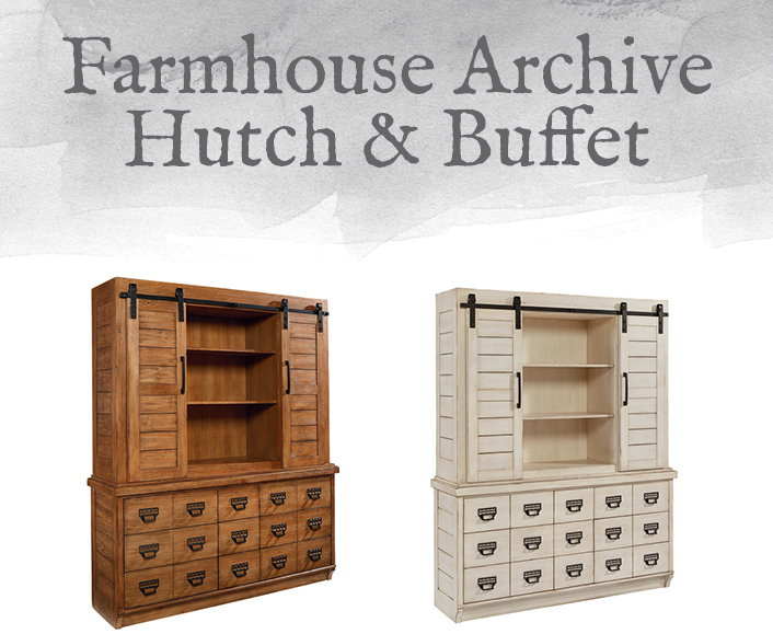 Farmhouse Archive Hutch Buffet