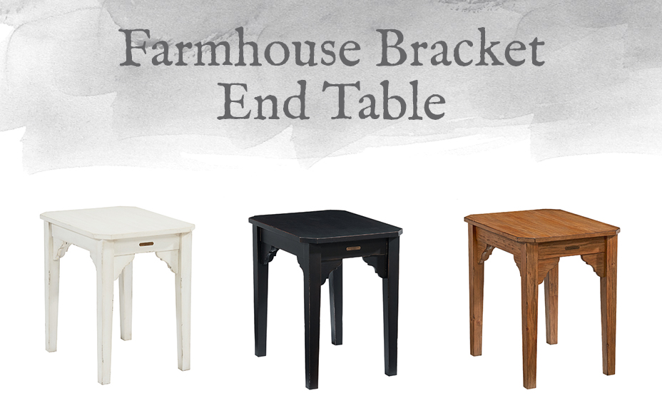 Farmhouse Bracket End Table