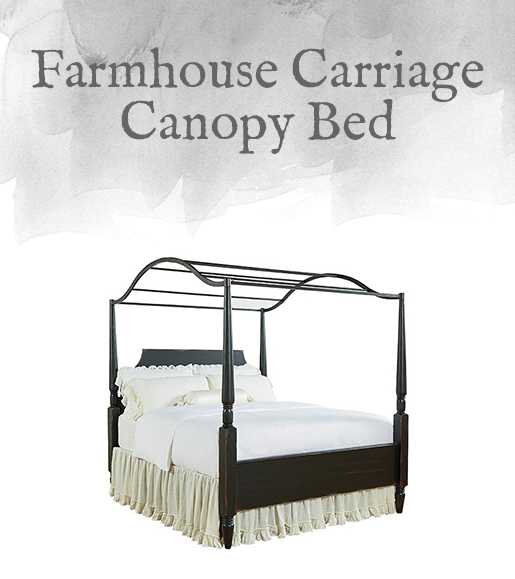 Farmhouse Carriage Canopy Bed
