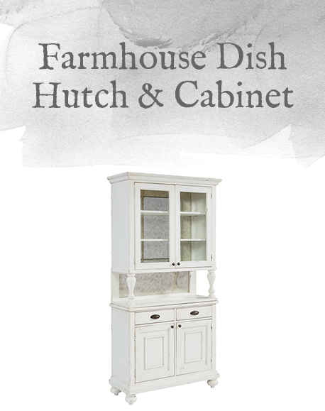 Farmhouse Dish Hutch & Cabinet