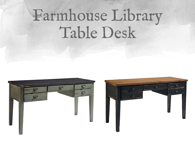 Farmhouse Library Table Desk