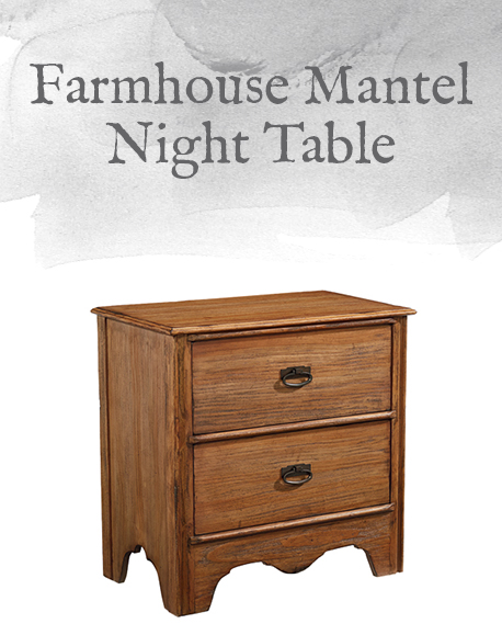 Farmhouse Mantel Night Table