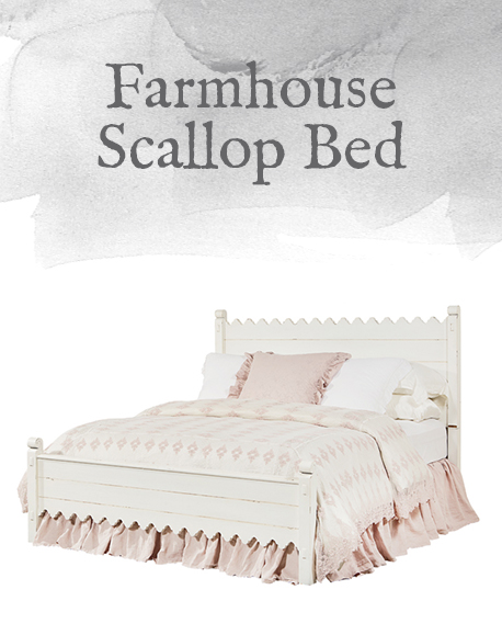 Farmhouse Scallop Bed