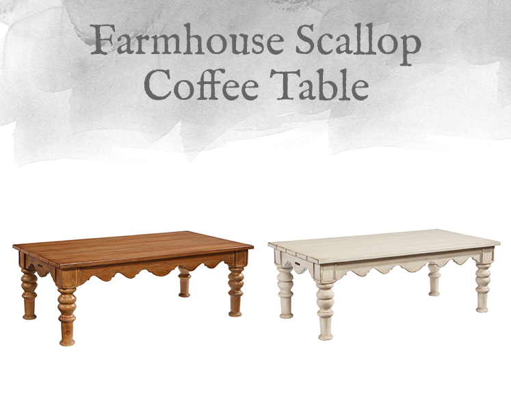 Farmhouse Scallop Coffee Table