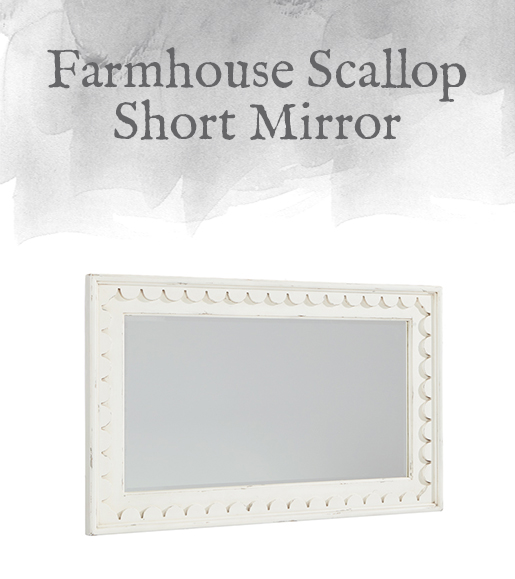 Farmhouse Scallop Short Mirror
