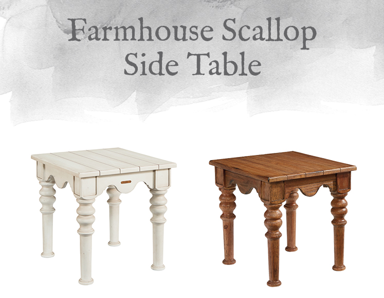 Farmhouse Scallop Side Table