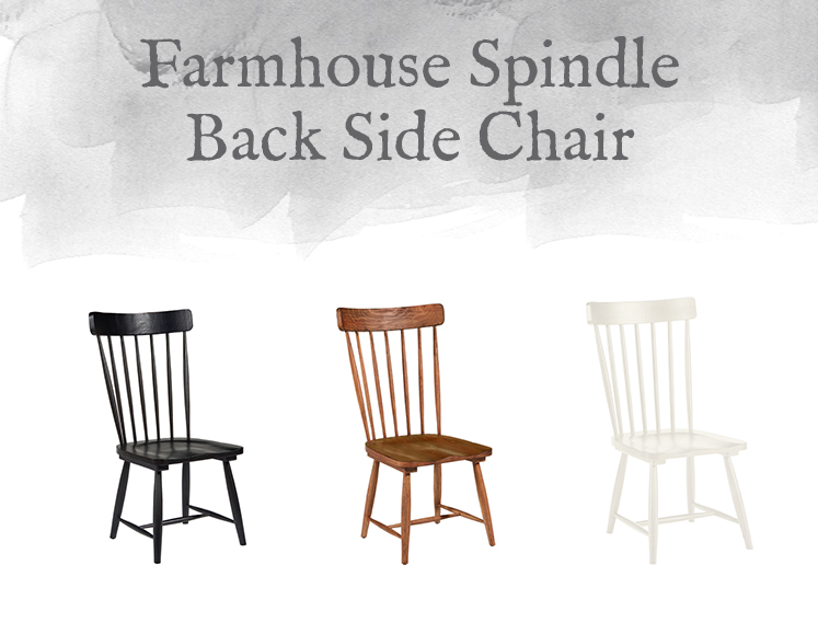 Farmhouse Spindle Back Side Chair