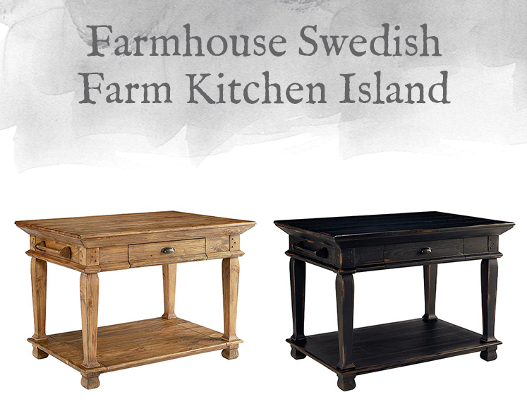 Farmhouse Swedish Farm Kitchen Island