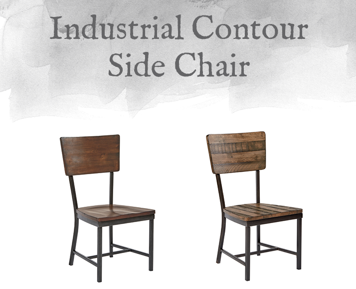 Industrial Contour Side Chair