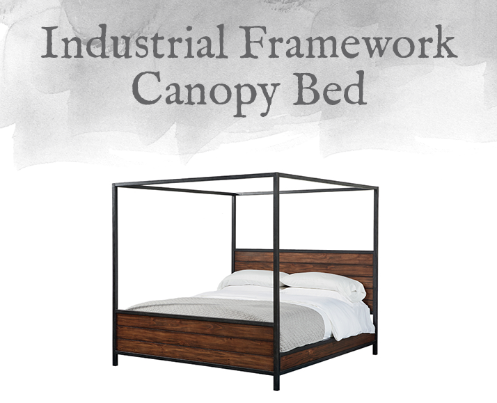 Industrial Framework Canopy Bed