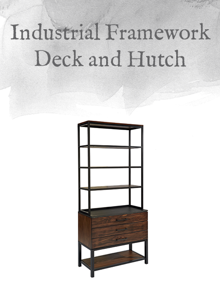 Industrial Framework Deck and Hutch