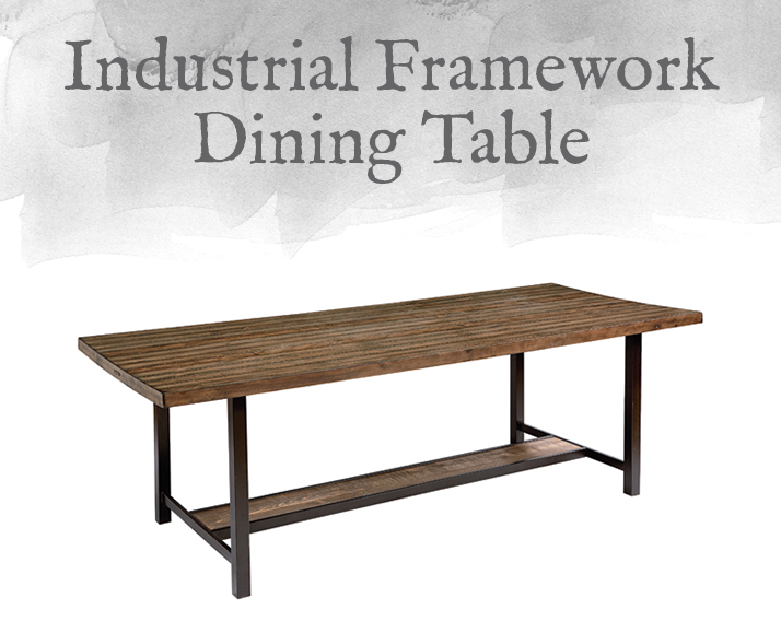 Industrial Framework Dining Table
