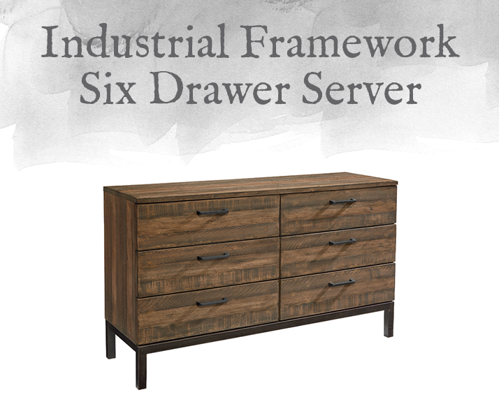 Industrial Framework Six Drawer Server