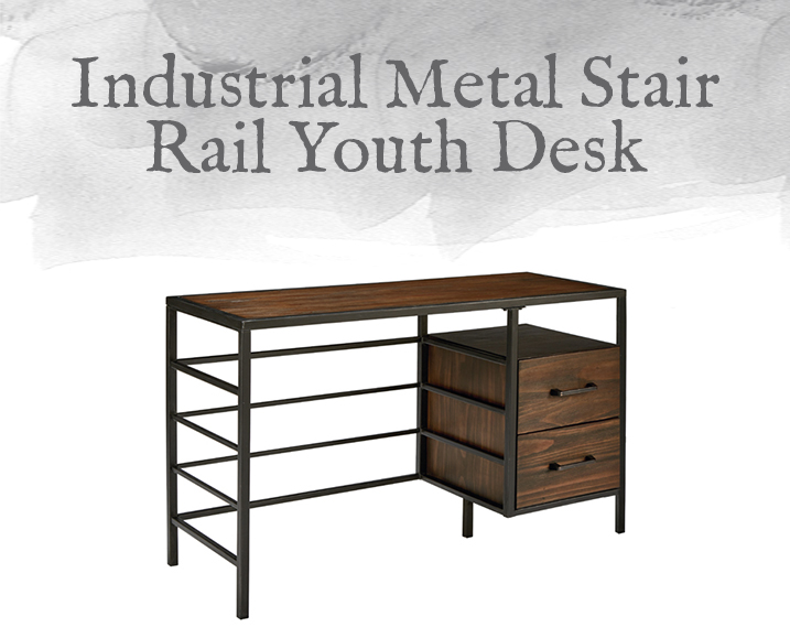 Metal Stair Rail Youth Desk