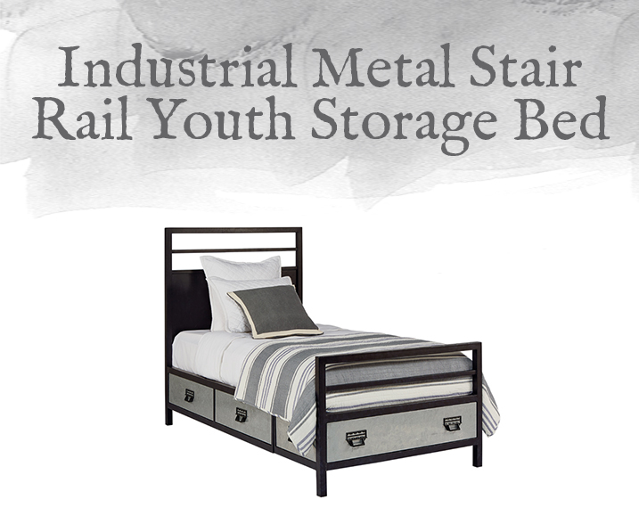 Metal Stair Rail Youth Storage Bed