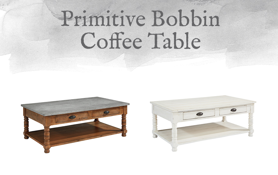 Primitive Bobbin Coffee Table