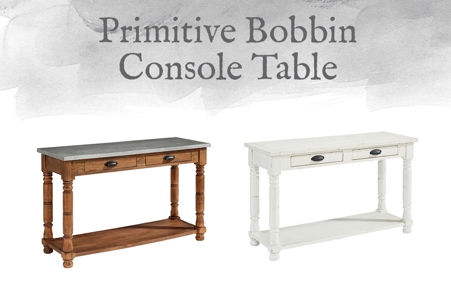 Primitive Bobbin Console Table