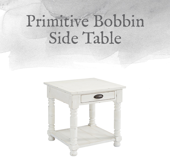 Primitive Bobbin Side Table