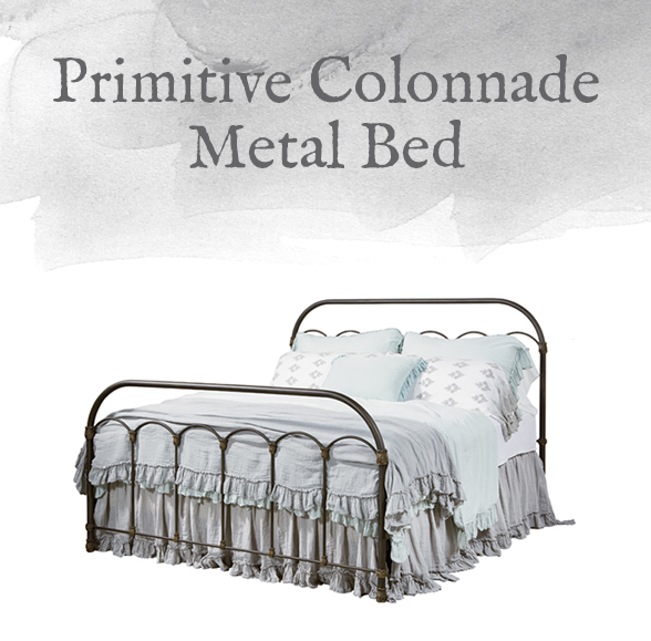 Primitive Colonnade Metal Bed