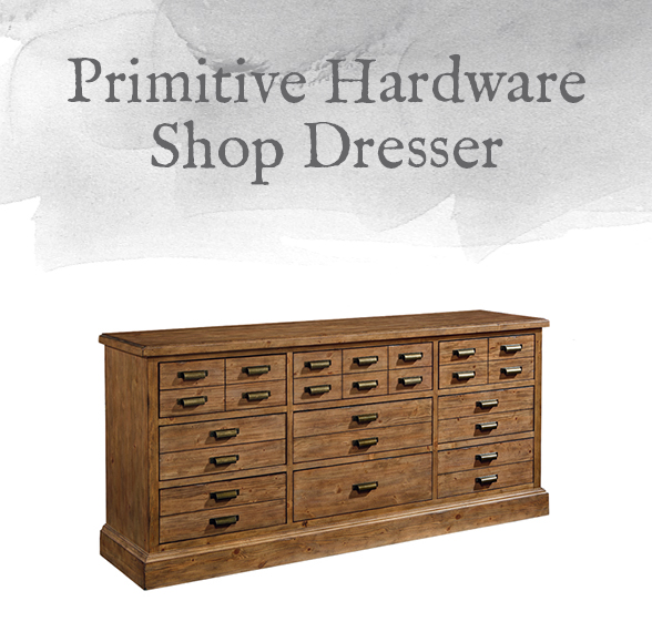 Primitive Hardware Shop Dresser