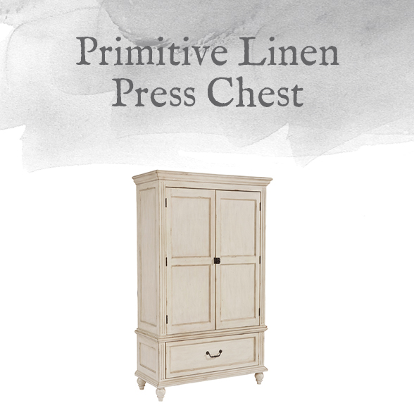 Primitive Linen Press Chest