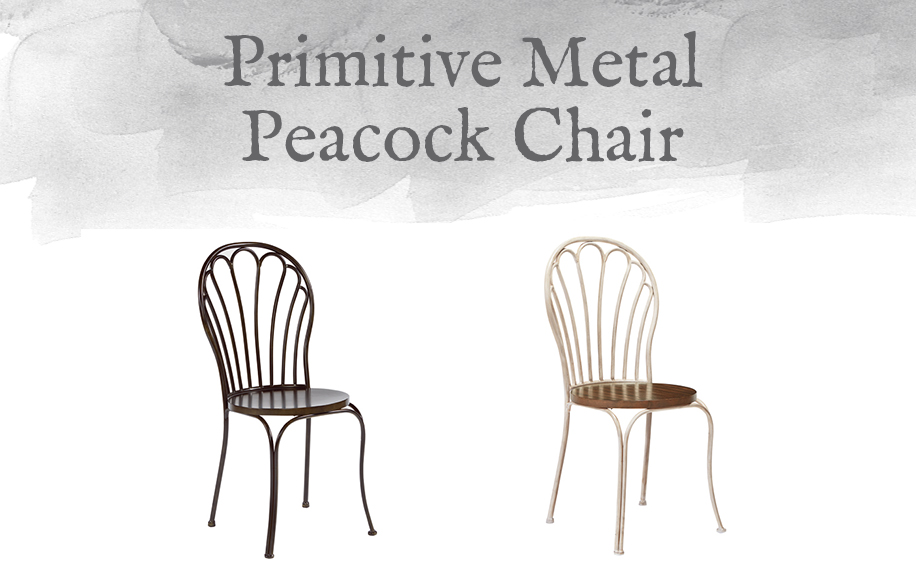 Primitive Metal Peacock Chair