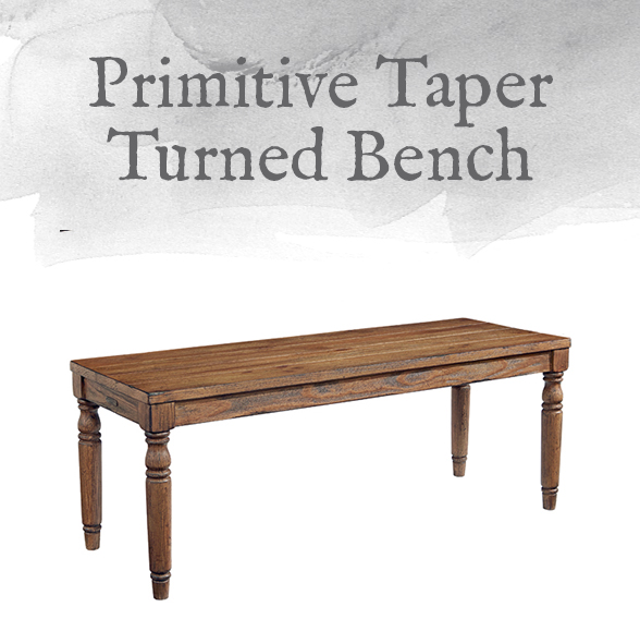 Primitive Taper Turned Bench
