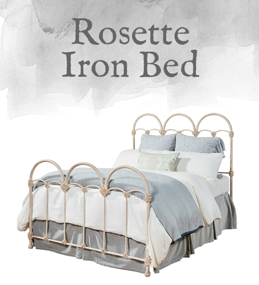 French-Inspired Rosette Iron Bed