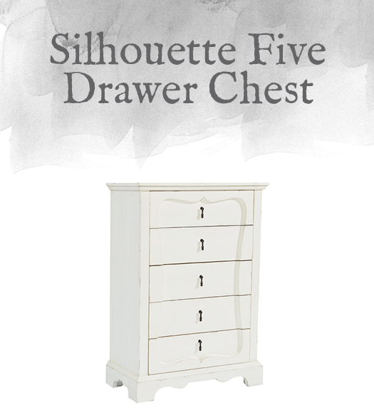 French-Inspired Silhouette Five Drawer Chest