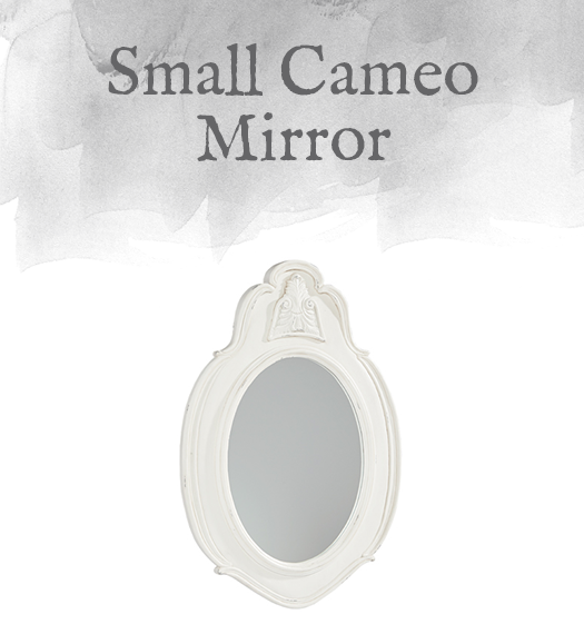 French-Inspired Small Cameo Mirror