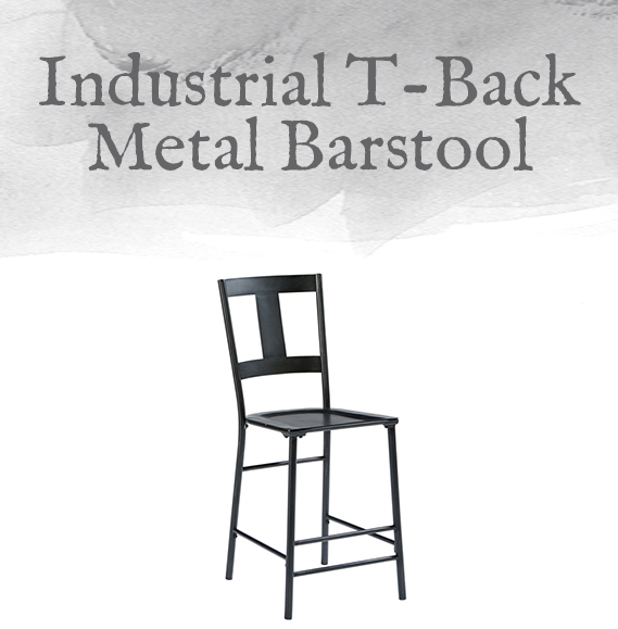 T-Back Metal Barstool
