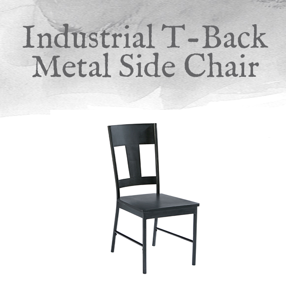 T-Back Metal Side Chair