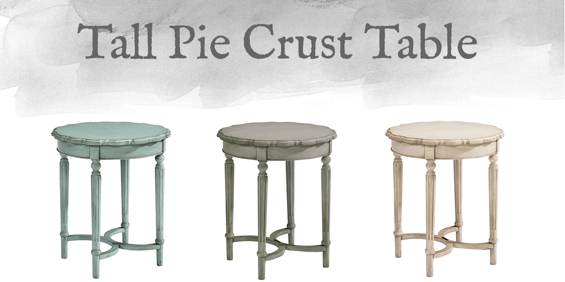 French-Inspired Tall Pie Crust Table