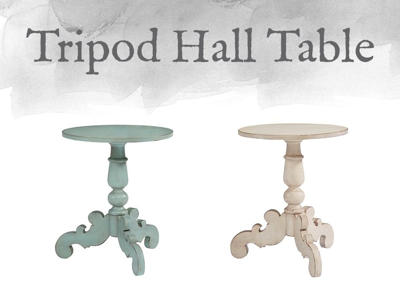 French-Inspired Tripod Hall Table