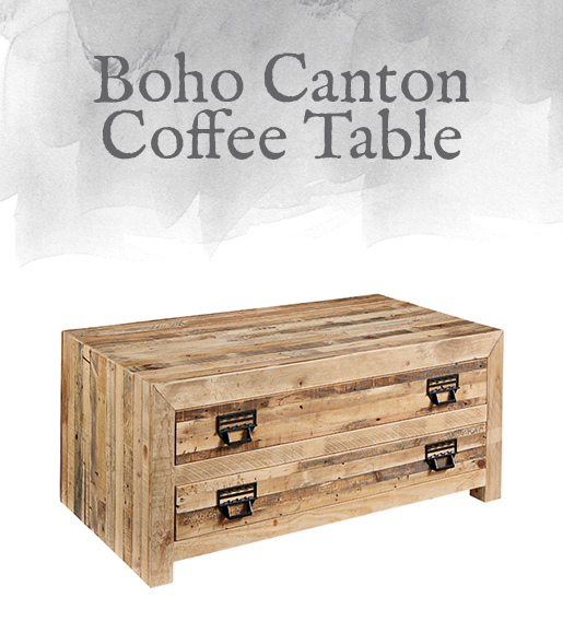 Ellenton Coffee Table With Storage: Magnolia Home Preview: Boho Collection