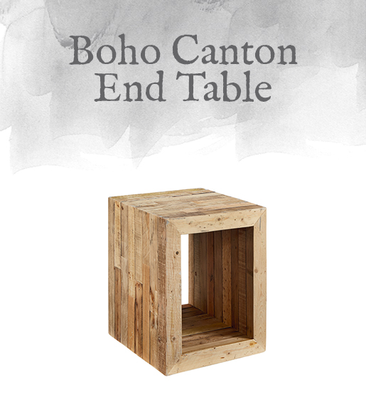 Boho Canton End Table