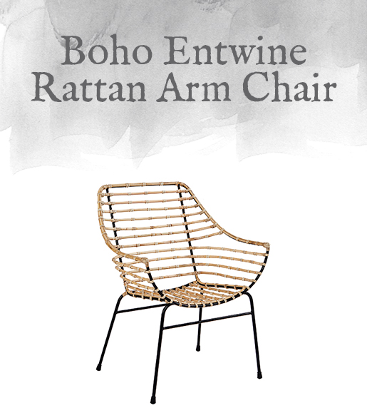 Boho Entwine Rattan Arm Chair