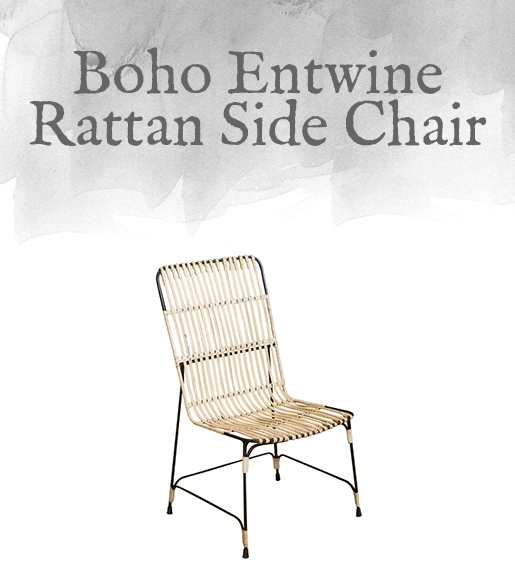 Boho Entwine Rattan Side Chair