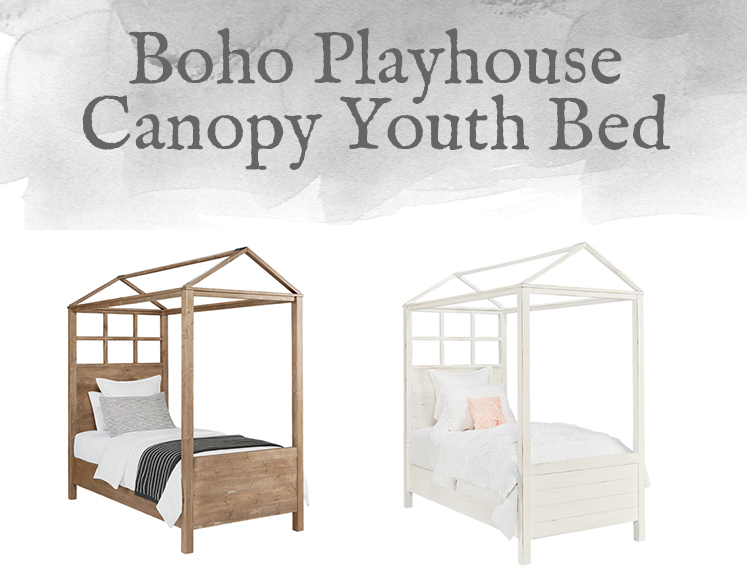 Boho Playhouse Canopy Youth Bed