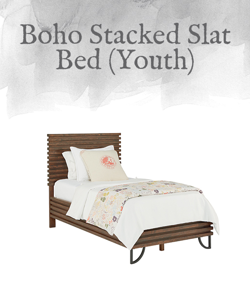 Boho Stacked Slat Bed (Youth)